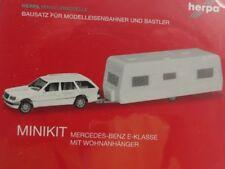 1/87 Herpa MiniKit MB E-Klasse T-Modell mit Wohnanhänger 013413