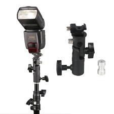 Flash Cold Shoe Umbrella Holder Swivel Bracket Mount Light Stand fr DSLR Camera