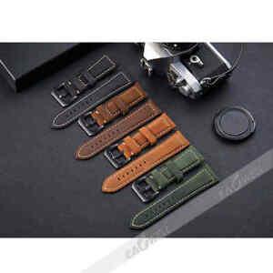Universal New Genuine Leather WristWatch Strap Wrist Watch Band 20/22/24/26 mm