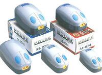 MOUSE AIR PUMP - Aquarium Fish Tank Single or Twin Pumps 20 upto 200 Ltr bp Tube