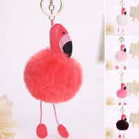 Flamingo Key Chain Ring Key Holder Handbag Car Pendant Accessories Gift