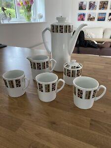 Mid Century Alfred Meakin Coffee Set, Kitchen Dining Ceramic Tableware Tea Room