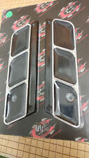 Covingtons Saddlebag Latch Covers, Windows Design, Diamond Cut