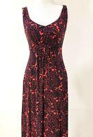 BODEN Maxi Dress Petite Stretch Jersey Red & Blue Women's Size 4P Sleeveless