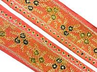 Vintage Sari Border 1Yd Women Antique Sari Trim Ribbon Embroidered ST1476
