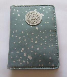 Kipling Silver Sky Passport Case- blue white- 4 compartments