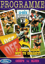 Waikato Chiefs vAuckland Blues - 15 Mar 1997 - Super 12 RUGBY PROGRAMME