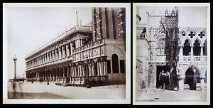 1890 Venezia Venedig Italia P. Ducale Italien antique photo albumen Foto