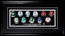 Carolina Hurricanes Hartford Whalers Jersey Evolution NHL Hockey Collector Frame