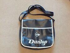 Dunlop Black Faux Leather Satchel Messenger Bag