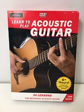 Learn to Play Acoustic Guitar (4-Disc DVD Set) New in Sealed Box