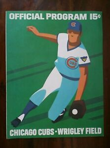 vintage UNUSED Official Program Chicago Cubs Wrigley Field MLB Baseball 1972