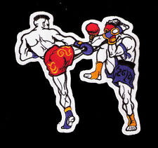 BIG MUAY THAI BOXING FIGHT Embroidered Iron on Patch Free Shipping