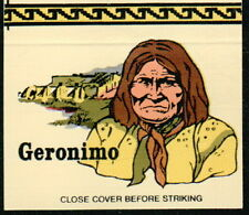 GERONIMO Apache Chiricahua Indian Chief Vtg Native American OH Match Book Cover