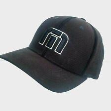 Flexfit Travis Mathew Mens Size L-XL Black Hat Cap Polyester Golf Mesh Big 'M'