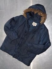 Penguin boys long sleeve dark blue warm jacket with hoody size 10 11 years
