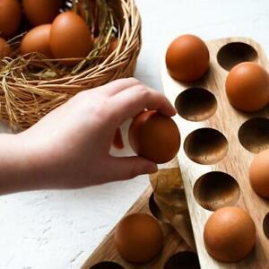 Wooden Egg Storage Box Holder Refrigerator Case Container Home Organizer Rack