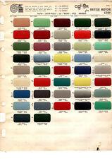 1956 1957 1958 1959 - 1965 AUSTIN HEALEY MG MORRIS RILEY WOLSELEY PAINT CHIPS MS