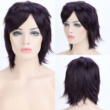 Vogue Cosplay Anime Short Wigs Full Wig Synthetic Purple Pink White Black Red cy