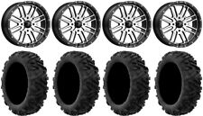 "MSA Machined Brute 20"" UTV Wheels 34"" Moto MTC Tires Can-Am Maverick X3"