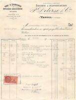Antique Invoice P.Delerse & Co Grocery Drugstore Wholesale Vesoul 1945 (With )