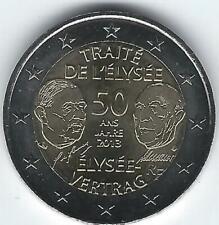 Pièce 2 euros commémo France 2013 (Traité de l'Elysée)
