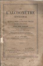 De l'alcoomètre centésimal - Jullian - 1872 - Vin, vigne, eaux-de-vie