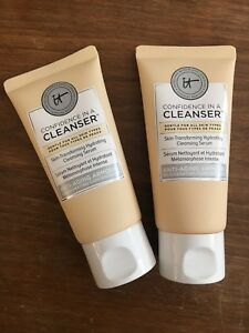 2x IT Cosmetics Confidence In A Cleanser Large Travel Size 50ml / 1.7 Fl Oz Each