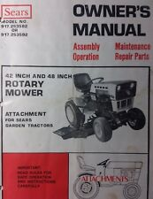 Sears Tractor Suburban 42 48 Mower Deck Owner & Parts Manual 20pg 917.253582 SS