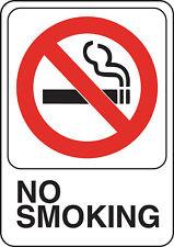 Hillman 841770, Red, Black/White No Smoking Plastic Sign, 5x7