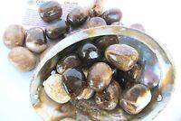 One Coffee Calcite Tumbled Stone 25-30mm Reiki Healing Crystals Creativity