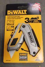 NEW DWHT10296 DeWalt Folding Retractable Blade 6-3/8 in. L Utility Knife Yellow