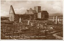 ISLE OF IONA * TOMBS OF THE KINGS, ST. ORAN'S CHAPEL* LOVELY VINTAGE VIEW (E.37)