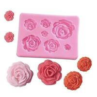 3D Silicone Rose Mold Cake Decorating Tools Mould for Candy Soaps Chocolate R4Y8