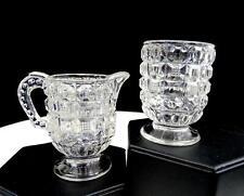 "EAPG McKEE GLASS TAPPAN PATTERN glass 2 3/4"" CHILDS CREAMER & TOOTHPICK 1887"