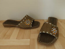 Betty May Fashion Beach Style Sandals Bead Flower Detail Size 4 UK 37 EU NEW