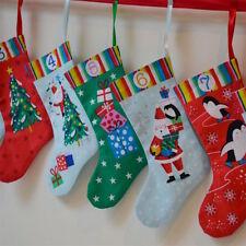 Jolly Santa Christmas Mini Stockings Advent Calendar Cut & Sew Fabric - PANEL