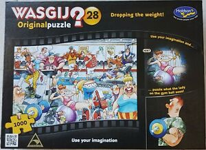 "Wasgij Original No 28 ""Dropping the weight"" 1000 piece Jigsaw Puzzle"