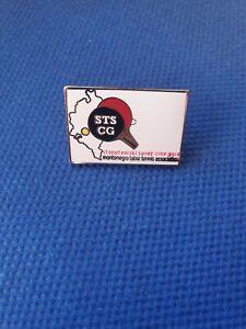 "Enamel pin badge MONTENEGRO TABLE TENNIS Federation Association variant ""silver"""