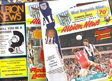 WEST BROMWICH ALBION V DERBY,PLYMOUTH, LEEDS,HUDDERSFIELD, MAN CITY, BRIGHTONVGC