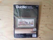 "Bucilla ""A Touch of England"" Cross-Stitch Kit (NEW) - Crafts Vintage 1992"