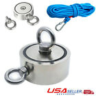 FISHING MAGNET 500LBS PULL FORCE SUPER STRONG ROUND NEODYMIUM RECOVERY MAGNET