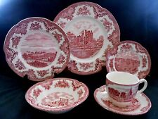 Johnson Brothers Old Britain Castles Pink 18 Piece Service for 3 Unused w2s9