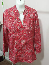 Kelly Kids Long Sleeve Bandana Blouse Top Size M (10 - 12) WC586
