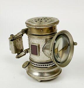 Antique Search light bicycle lamp lantern Bridgeport Brass co