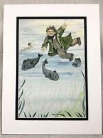 Originale per Bambini Libro Opera D'Arte Pittura The Acqua Pesce Oceano Sott