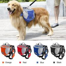 Medium and Large Dog Back Pack Backpack Panniers Saddle Bag Pet Walking Hiking
