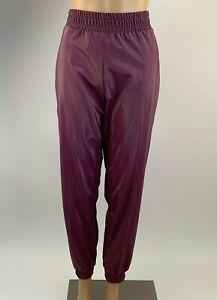 Victoria's Secret Victoria Sport Shiny Cargo Jogger Pants - Burgundy - S - NWT