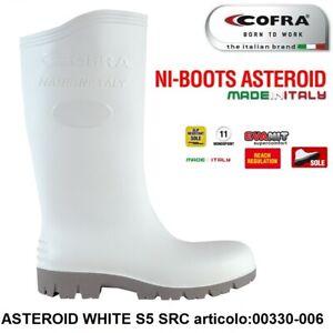 STIVALE ANTINFORTUNISTICA COFRA ASTEROID WHITE S5 SRC PVC ERGONITRIL ALIMENTARE+