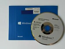 Genuine Microsoft Windows 7 Ultimate 64 bit OS Full System DISK ONLY - NO KEY